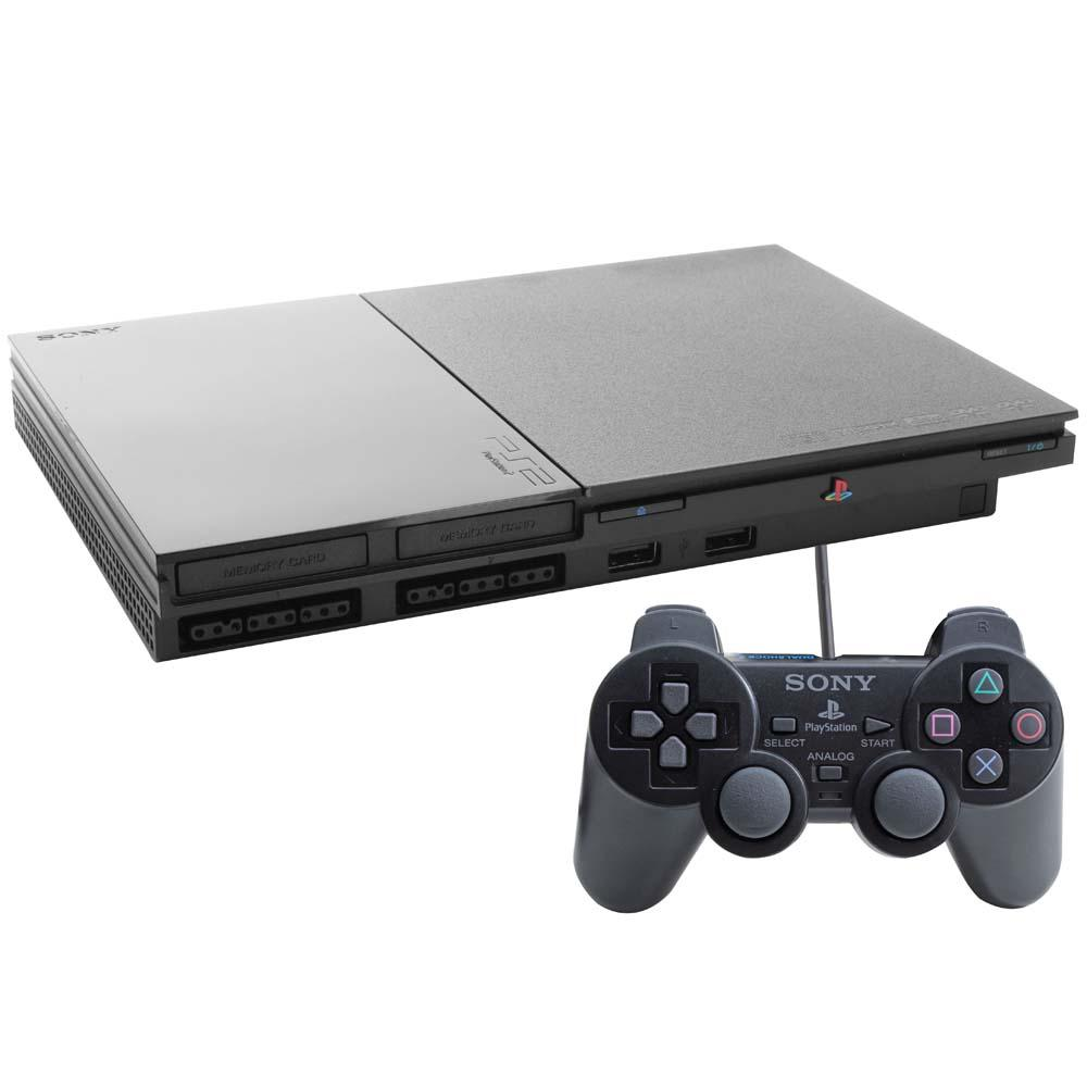 Console Sony PlayStation 2 Slim Preto - PS2